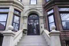 Brownstone Brooklyn, Parkowi skłonu rzędu domy Zdjęcia Royalty Free