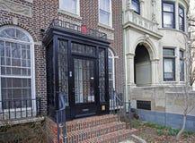 Brownstone Brooklyn, Parkowi skłonu rzędu domy Obraz Stock