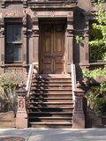Brownstone de New York. fotos de stock royalty free