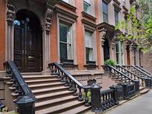 Brownstone di New York fotografie stock