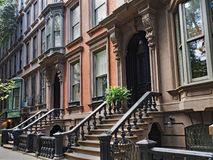 Brownstone di New York immagine stock libera da diritti