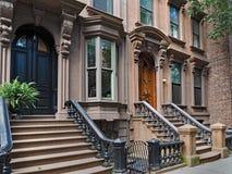 Brownstone di New York fotografie stock libere da diritti