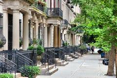Brownstone di New York immagine stock
