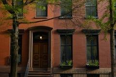 Brownstone di New York immagini stock libere da diritti