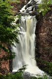 Brownstone Falls in northern Wisconsin Stock Images