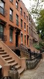 Brownstone-Haus in Carroll Gardens Brooklyn Lizenzfreies Stockfoto