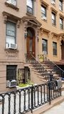 Brownstone-Haus in Carroll Gardens Brooklyn Lizenzfreie Stockbilder