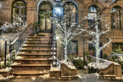 Brownstone New York City Manhattan Fotografia de Stock
