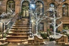 Brownstone New York Manhattan fotografia stock