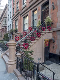Brownstone or townhouse entrance Stock Photography