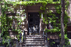 Brownstone van New York Stock Afbeelding