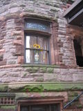 Brownstone window Royalty Free Stock Photography