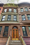 Brownstones Гарлема - Нью-Йорк Стоковые Изображения RF