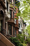 Brownstones. View of brownstown row houses in Brooklyn New York Stock Photography
