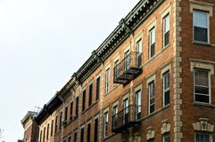 Brownstones. Boston brownstone apartment buildings in beacon hill boston massachusetts Royalty Free Stock Photo