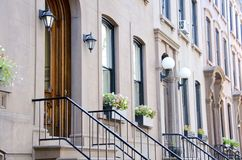 Brownstones de Brooklyn Fotografia de Stock