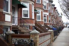 Brownstones di Brooklyn Immagine Stock Libera da Diritti