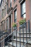 Brownstones di Brooklyn Immagine Stock