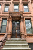 Brownstones di Harlem - New York Fotografie Stock