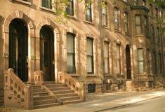 Brownstones van Philadelphia stock afbeelding