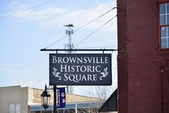 Brownsville Historyczny kwadrat Zdjęcie Royalty Free