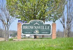 Brownsville, Tennessee du comté de Haywood Photo libre de droits