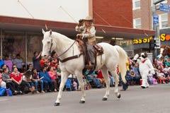 Grand International Parade. Brownsville, Texas, USA - February 25, 2017, Grand International Parade is part of the Charro Days Fiesta - Fiestas Mexicanas, A bi Royalty Free Stock Image