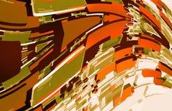 Browny Abstrakcjonistyczny projekt Obrazy Stock