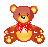 Browny taddy. Browny teddy isolated on white background Royalty Free Stock Images