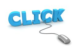 Free Browse And Click - Grey Mouse Royalty Free Stock Photos - 12219898