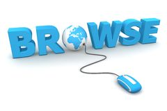 Browse Around - Blue Mouse Royalty Free Stock Image