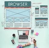Browse Browser Connect Internet Layout Concept Stock Photography