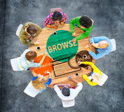 Browse Browser Searching Information Connection Web Concept Stock Images