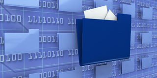Browse computer data Royalty Free Stock Photo