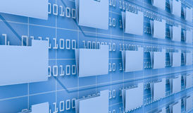Browse computer data Stock Photo