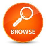 Browse elegant orange round button Stock Photo