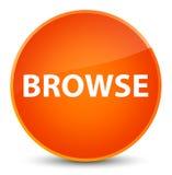 Browse elegant orange round button Royalty Free Stock Photos