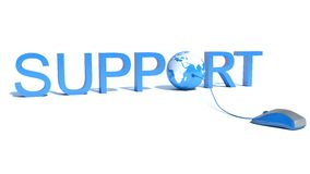 Browse the Global Support. Isolated white vector illustration