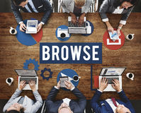 Browse Internet Software Information Webpage Concept Stock Image