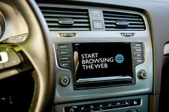 Browse internet in your car Royalty Free Stock Image