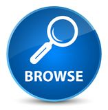 Browse elegant blue round button Stock Images