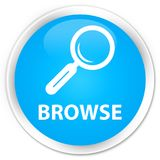 Browse premium cyan blue round button Royalty Free Stock Images