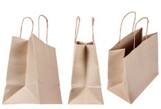 Browse recycled paper bag Royalty Free Stock Photography