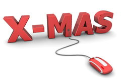 Browse Red X-Mas - Red Mouse Royalty Free Stock Photos