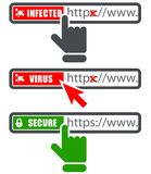 Browser address bar with https protocol Stock Photo