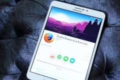 Browser app van het Firefoxweb Royalty-vrije Stock Foto's