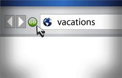 Browser background with word vacation Stock Images