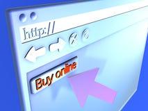 Browser Closeup - Buy online Royalty Free Stock Photos