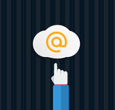 Browser cloud in flat Royalty Free Stock Photo