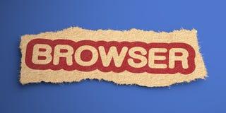 Browser. Concetto di Internet. Immagine Stock Libera da Diritti